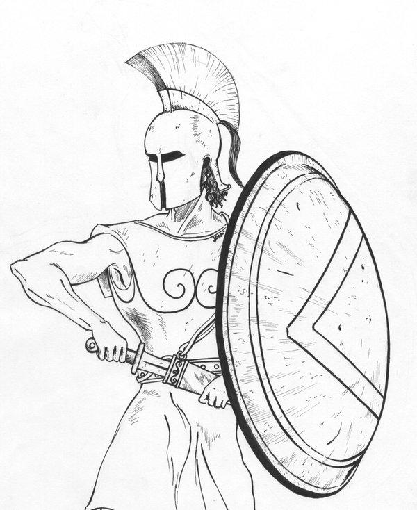 Drawn warrior simple Artwork RomanArmyTalk Lessa Share Your