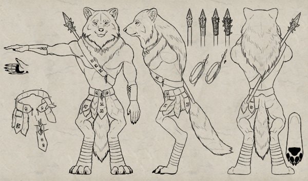 Drawn warrior simple Sheet and Model a of