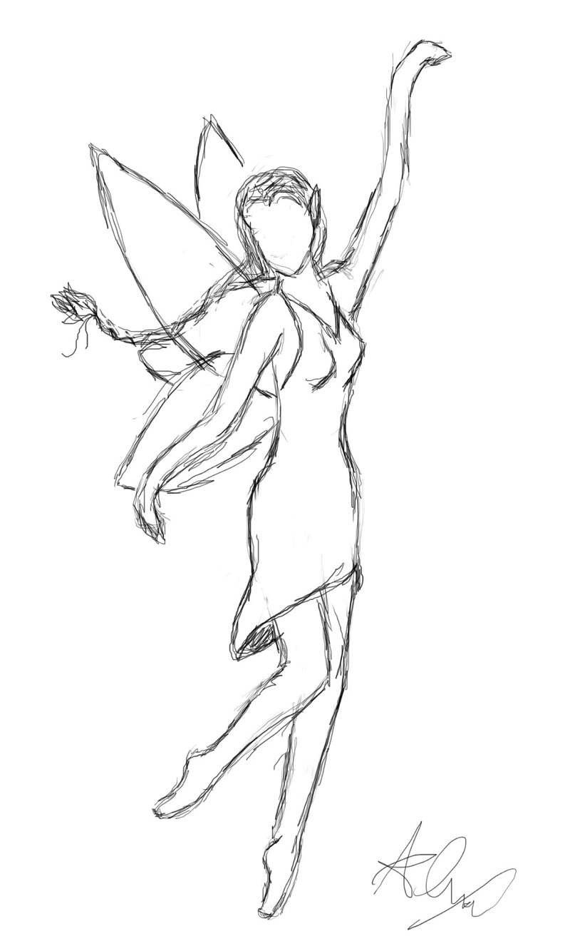 Drawn warrior simple Fairy to realistic (part a