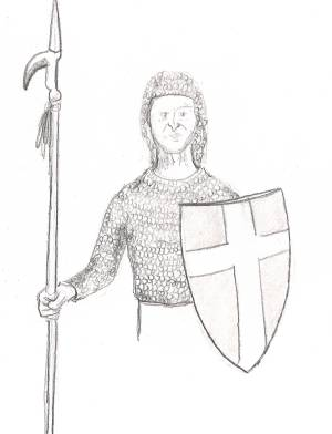 Drawn warrior simple Lesson  13: Drawing Chainmail