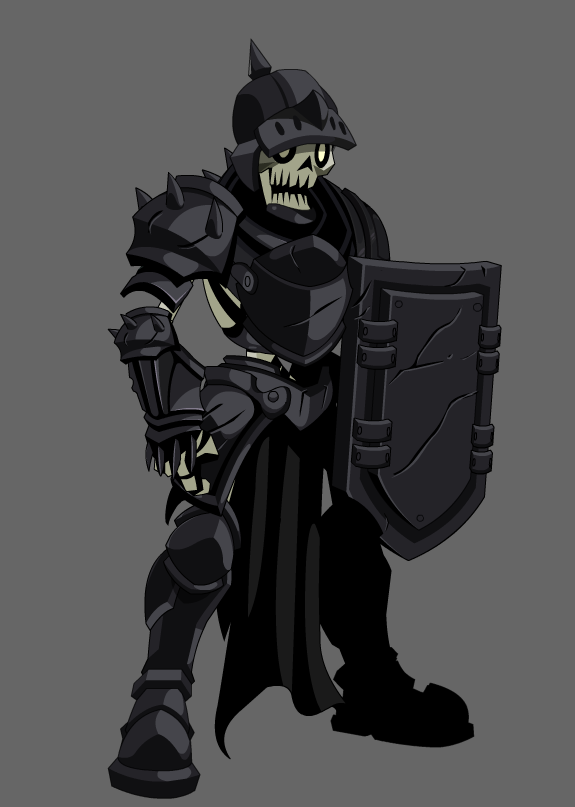 Drawn warrior skeleton knight Art on knight flash 28