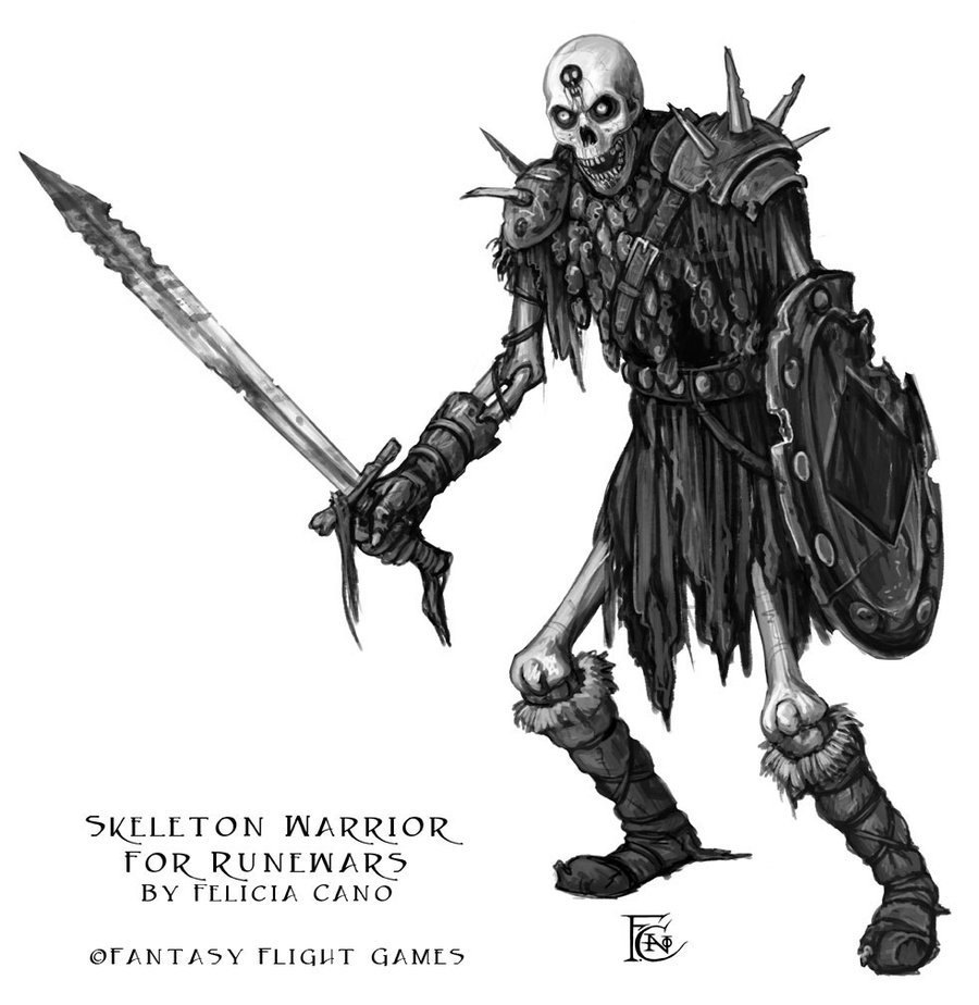 Drawn warrior skeleton knight By on Skeleton RuneWars Warrior