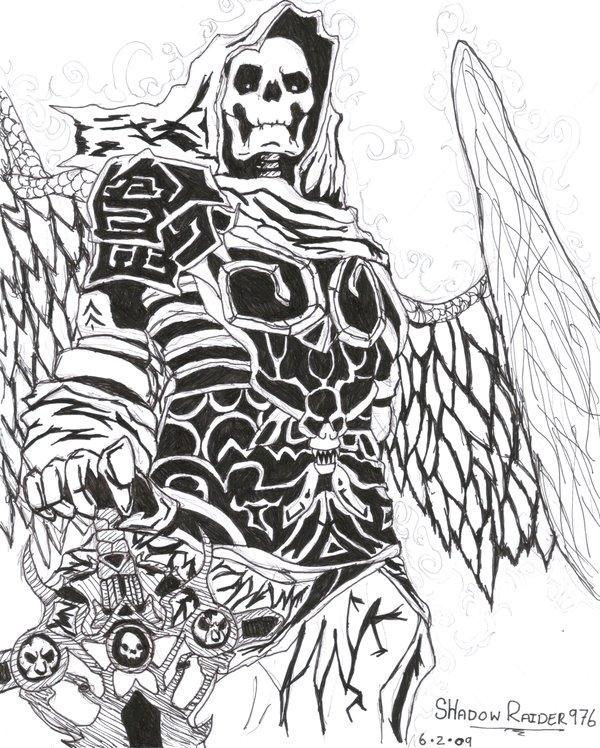 Drawn skeleton skeleton warrior By on shadowraider976 warrior Skeleton