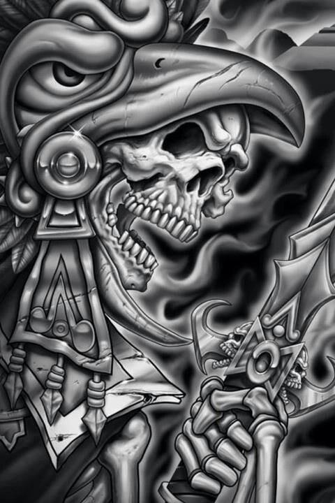 Aztec Warrior clipart artwork #15