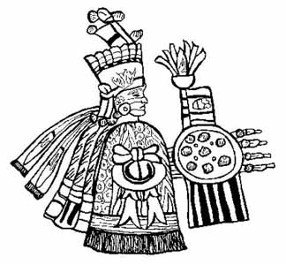 Aztec Warrior clipart black and white Crystalinks Gods Goddesses and Aztec
