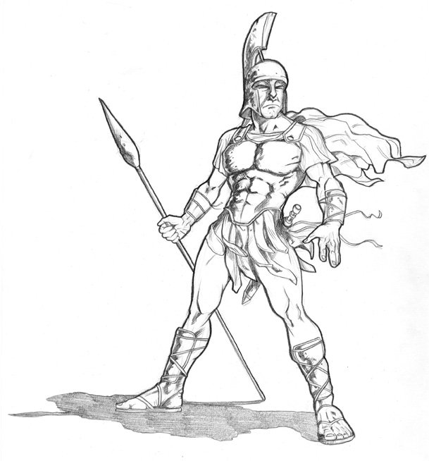 Drawn warrior sparta And illustrations in Comic Warrior