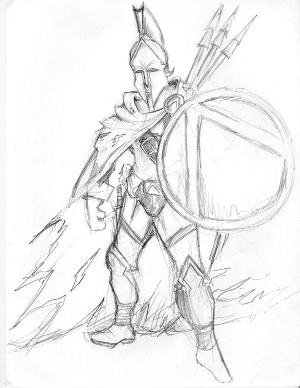 Drawn warrior sparta  GreeksRomans net/9452/i/2007/ WarriorWarriors ·