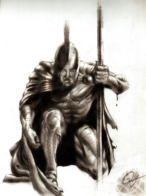 Drawn warrior sparta Art Art Spartan images Warrior