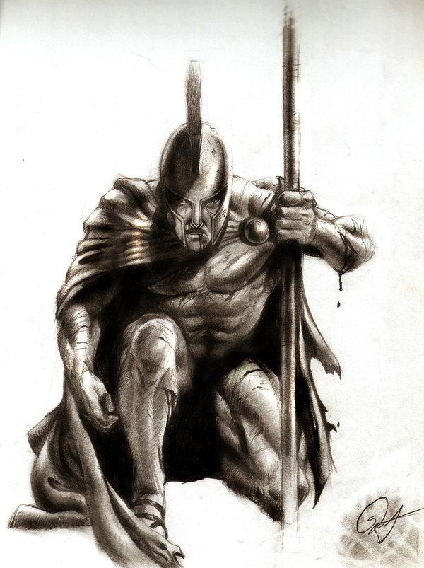 Drawn warrior sparta Download Art Art Warrior Spartan