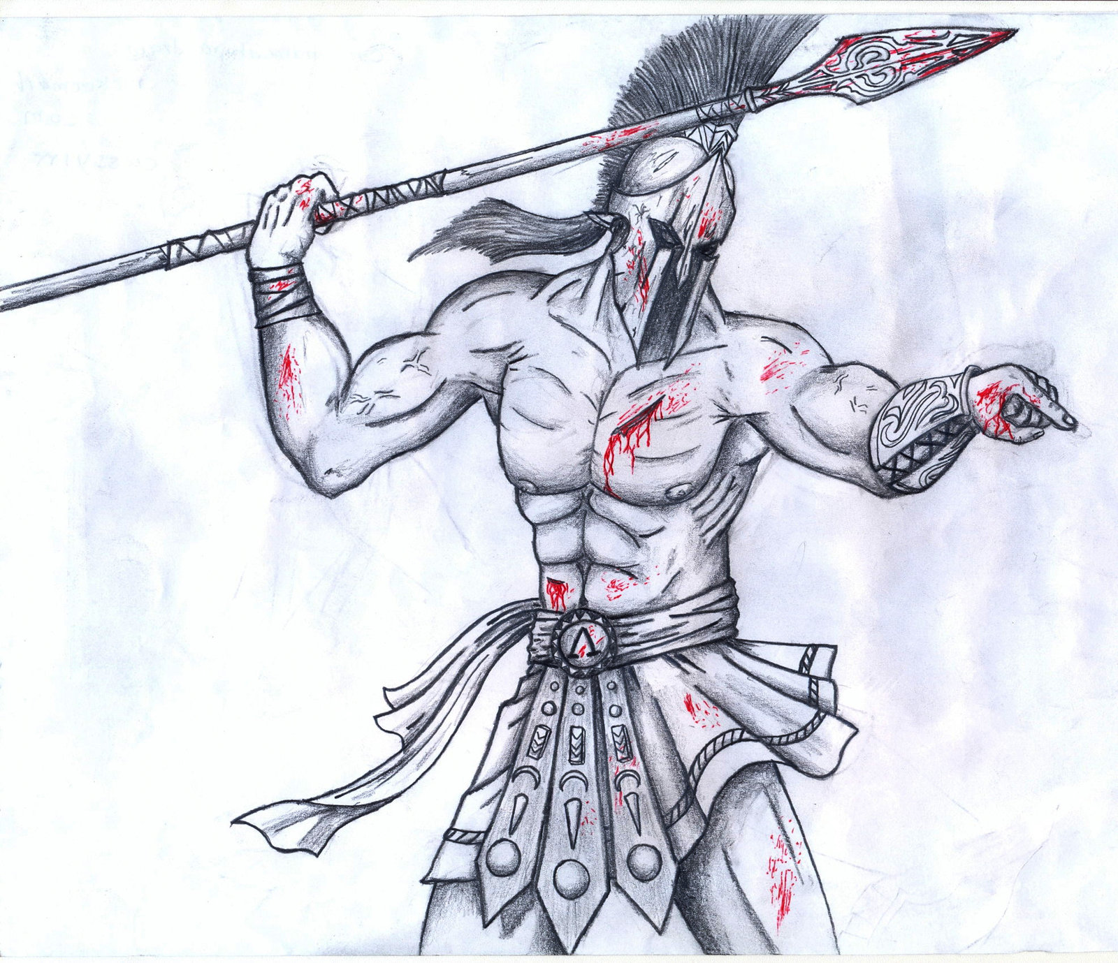 Drawn warrior sparta Drawing by SPARTANalexandra Warrior Drawing