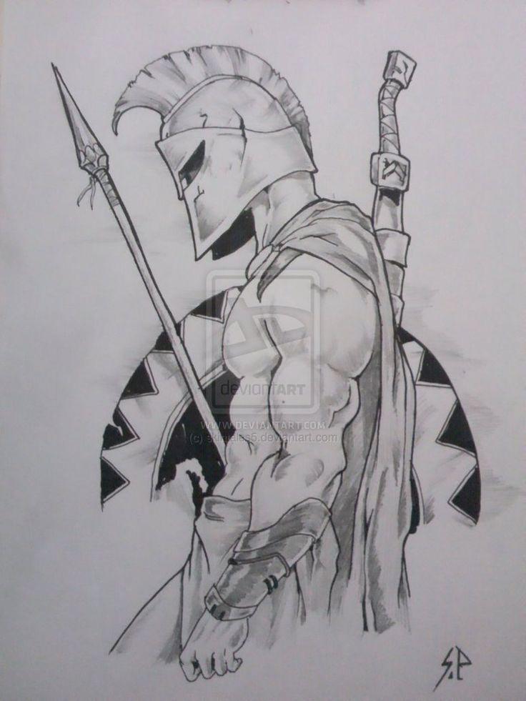 Drawn warrior sparta Warrior on The by DeviantArt