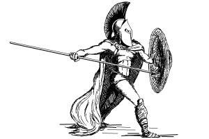 Drawn warrior sparta Foxxx to Draw How Spartan