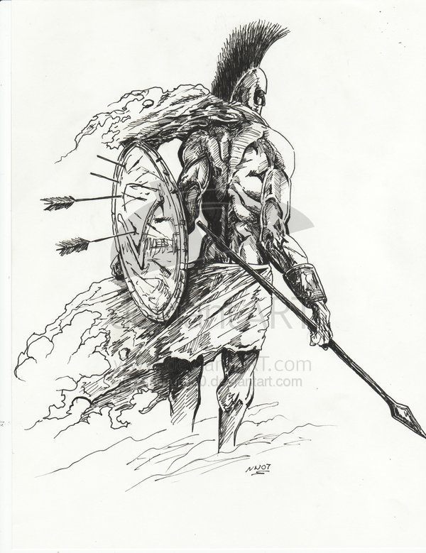 Drawn warrior sparta Online portfolio anthonyleonart 3 spartan_by_samurai30