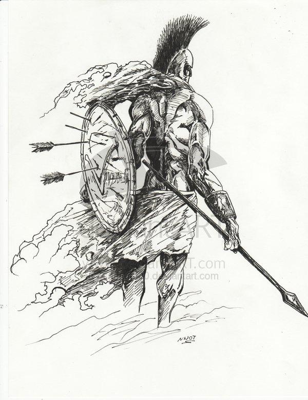 Drawn warrior sparta Online 3 portfolio anthonyleonart spartan_by_samurai30