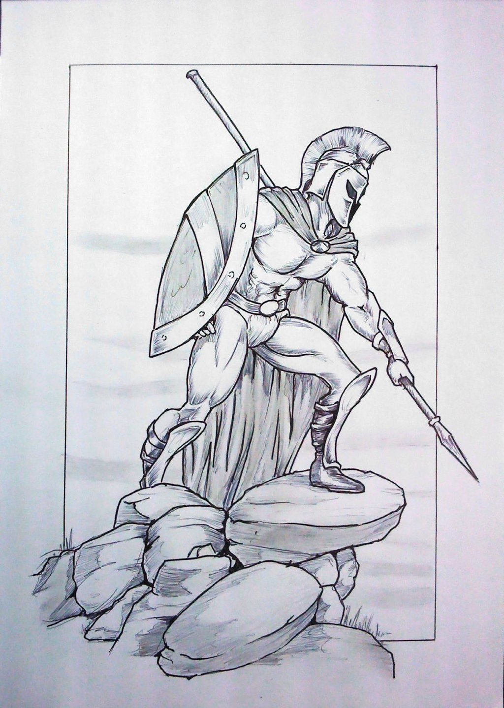 Drawn warrior sparta 03 by skintales5 warrior 03
