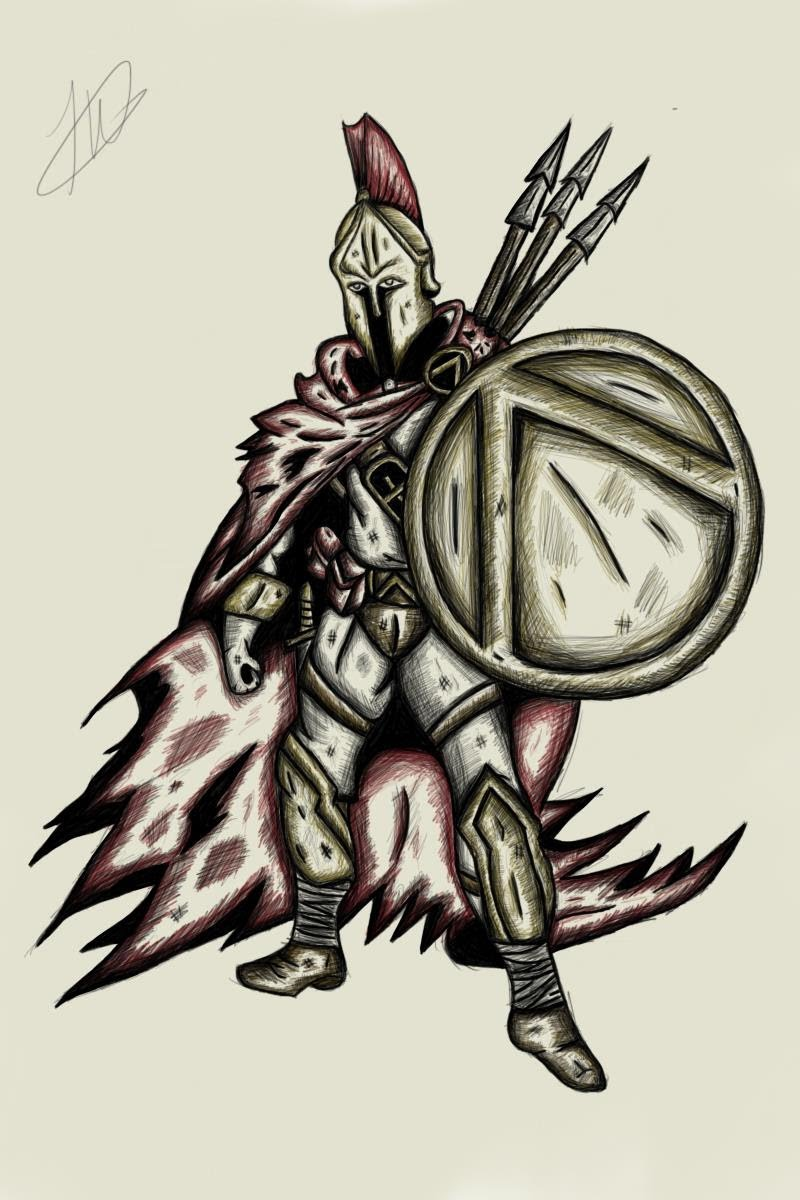 Drawn warrior sparta YouTube with Gimpy Drawing Warrior