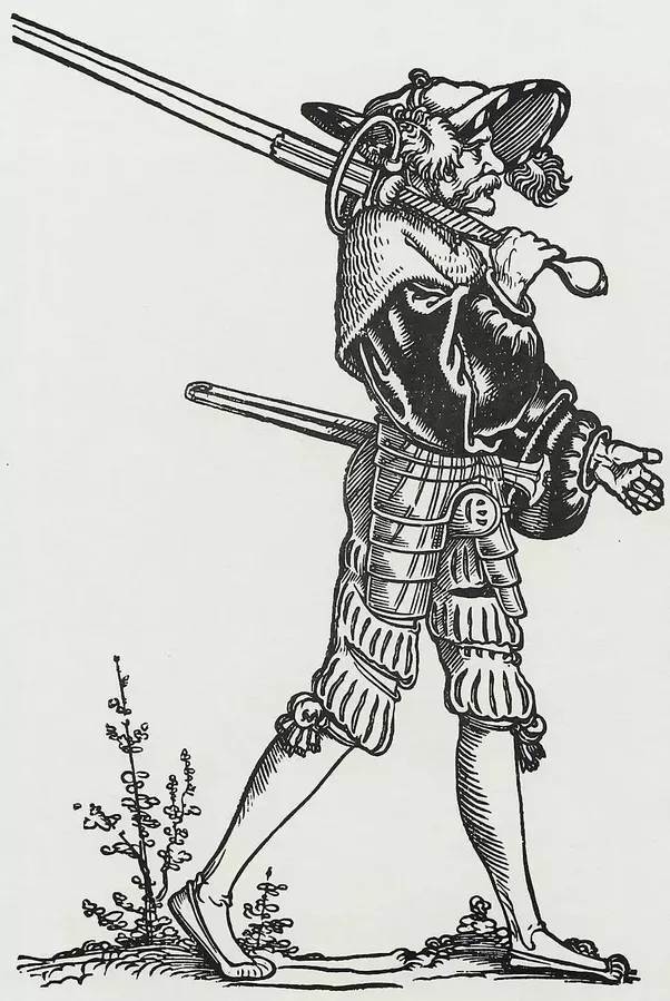 Drawn samurai realistic To from a way sword