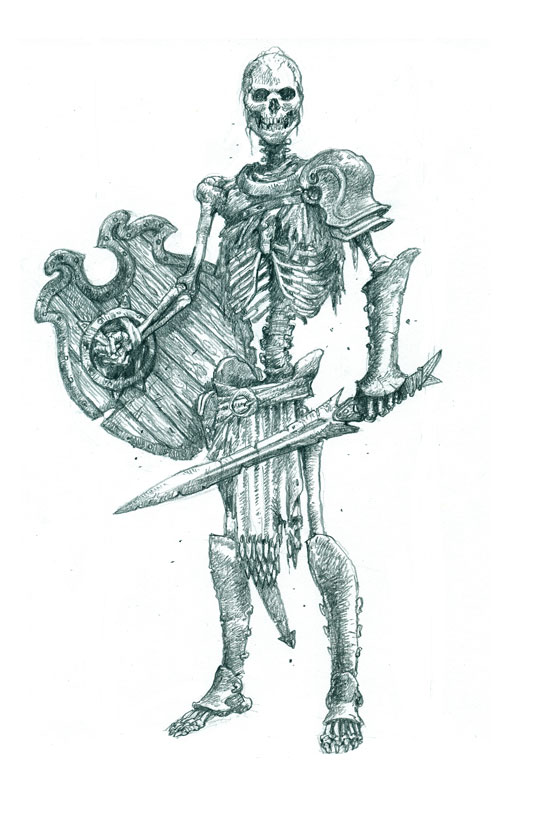 Drawn skeleton skeleton warrior Skeleton warriors draw fearsome How