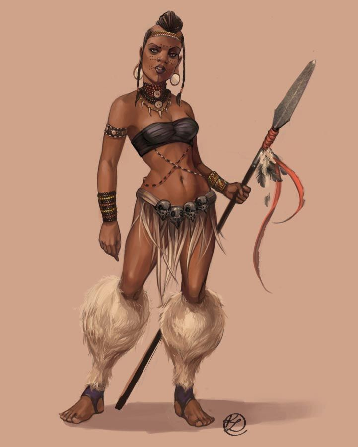 Drawn warrior tribal woman BADASSES Best on Tribal Pinterest