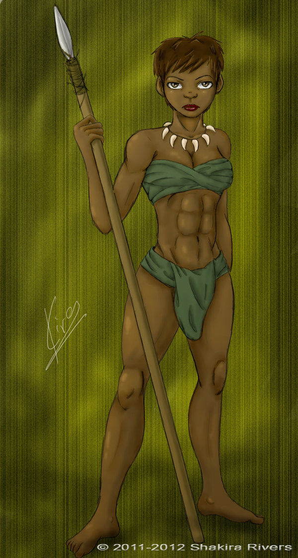 Drawn warrior tribal woman More Africans Women Women ~