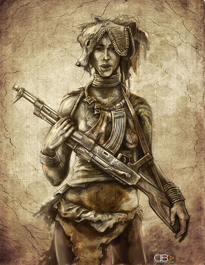 Drawn warrior tribal woman Warrior Masteri War Tribal Tribe