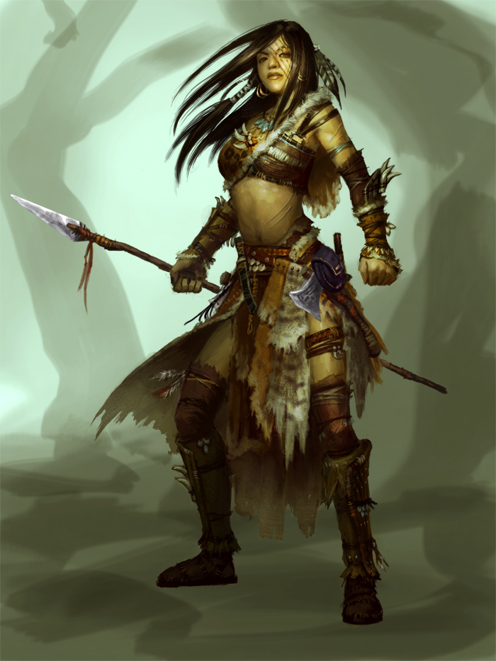 Drawn warrior tribal woman Chief art painting drawing tutorials