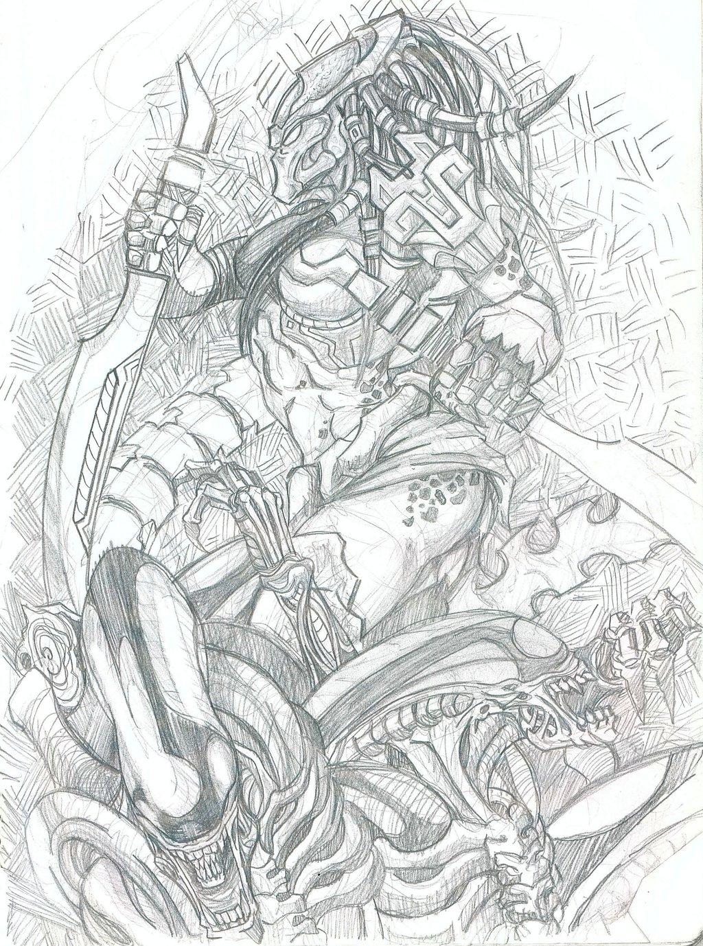 Drawn warrior yautja Female DeviantArt by Yautja fovick
