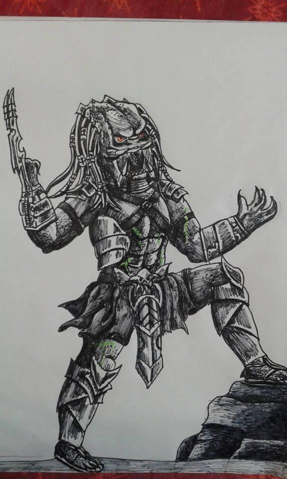 Drawn warrior yautja 323 wins warrior DeviantArt warrior