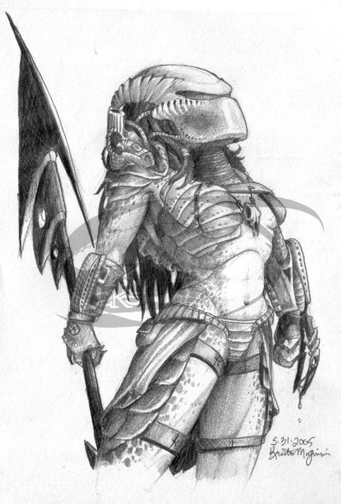 Drawn predator female predator Explore yautja yautja by 84