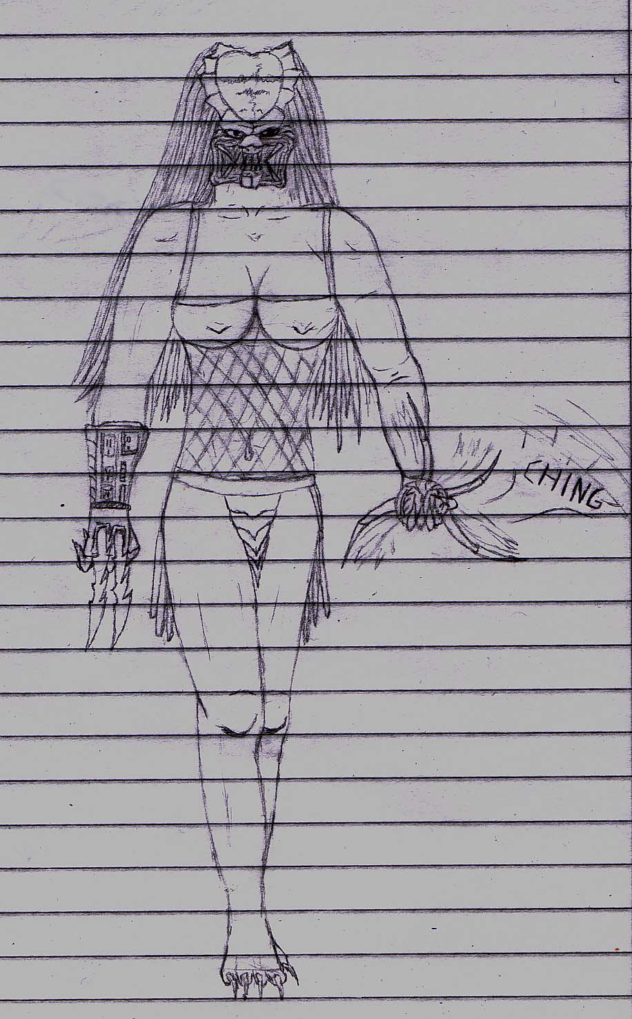 Drawn warrior yautja By on Snackrib Wolfy Wolfy