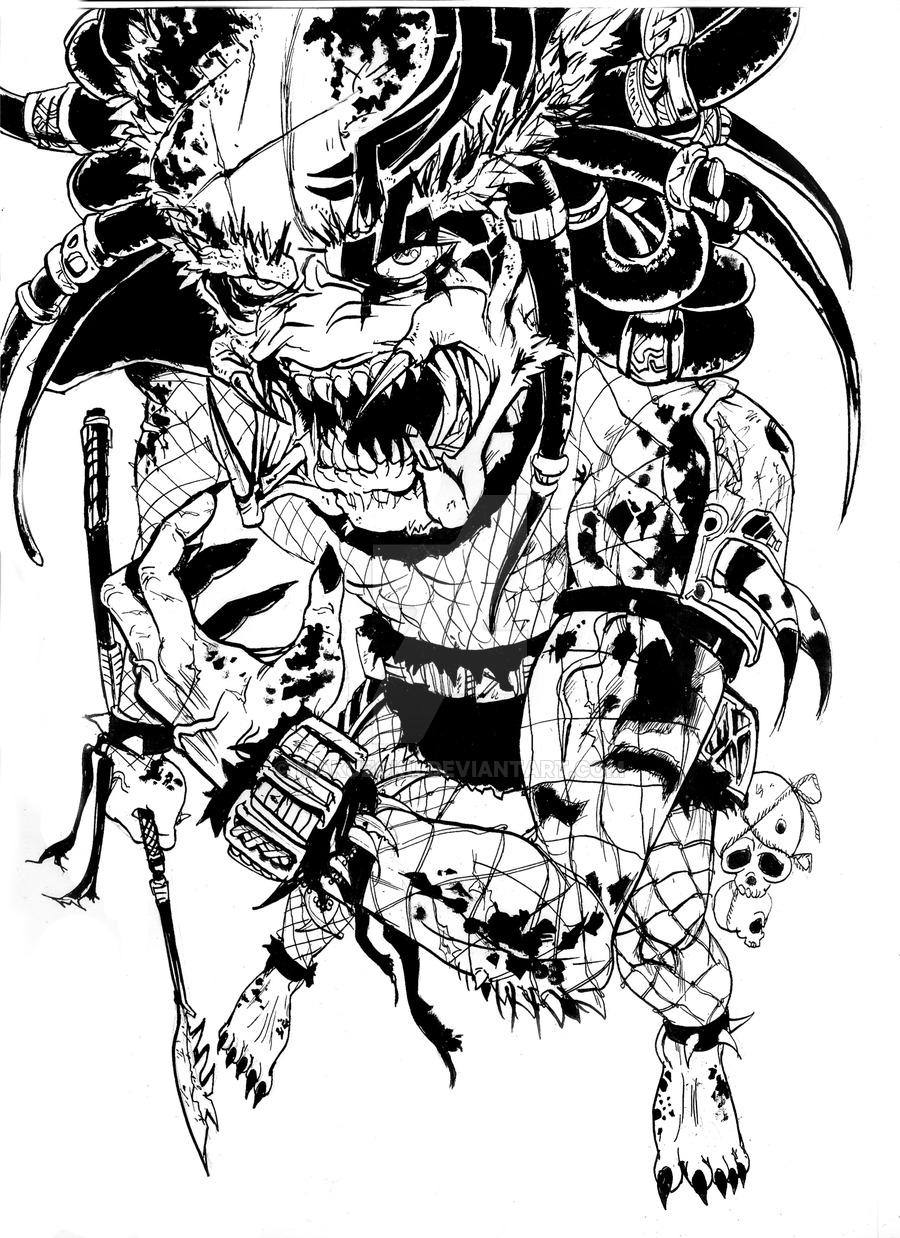 Drawn warrior yautja MaKuZoKu by DeviantArt on WARRIOR