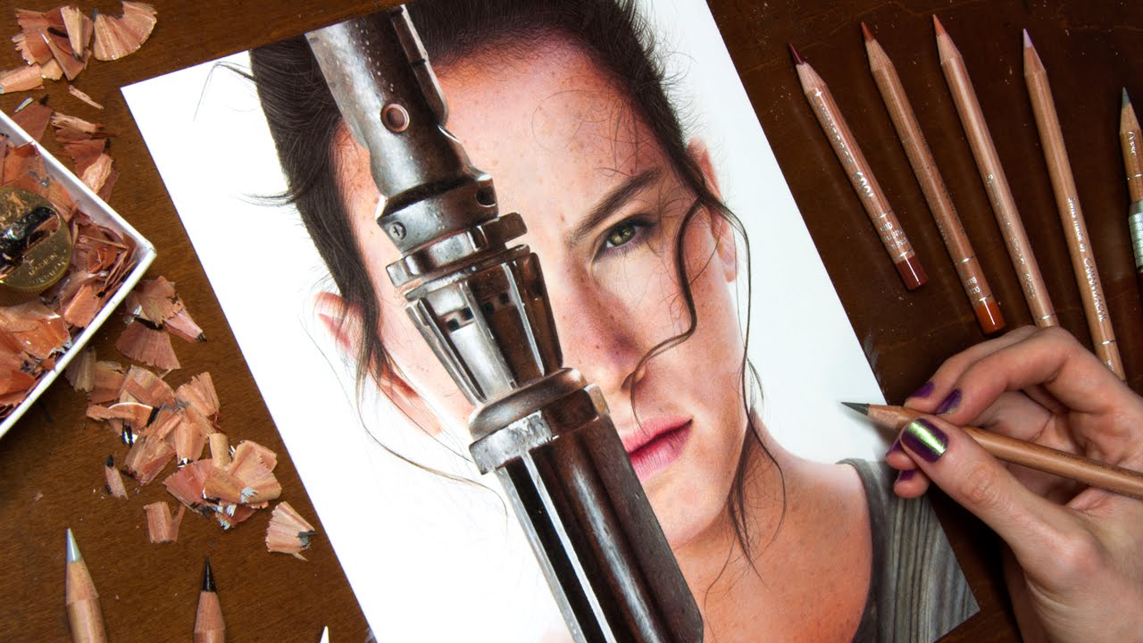 Drawn wars Wars: Force YouTube  Rey