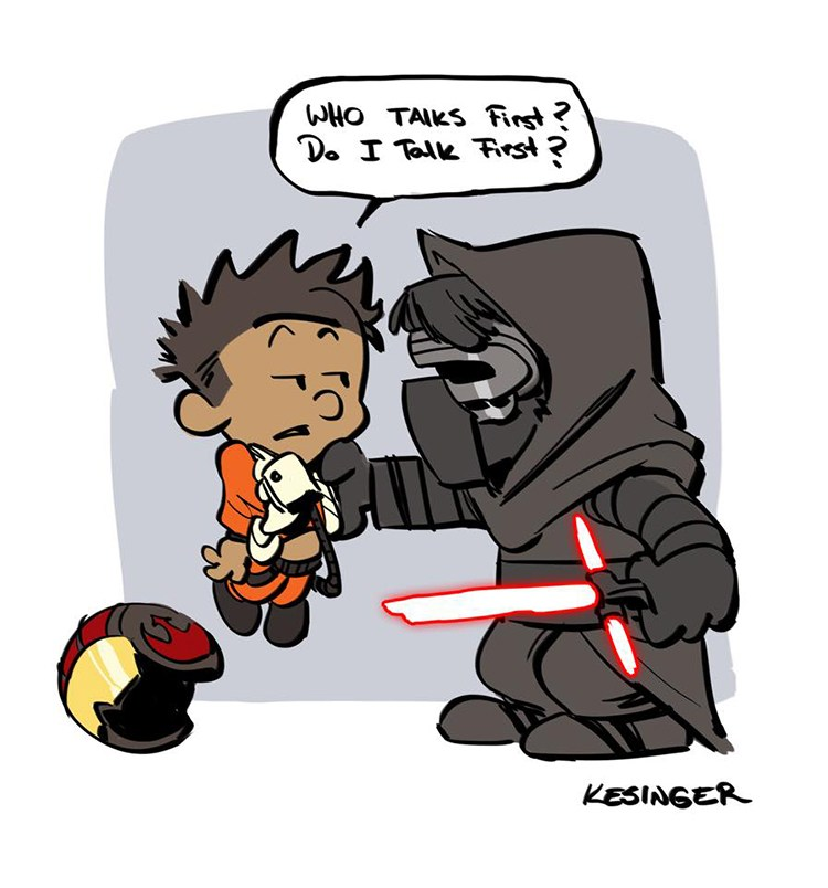 Drawn star wars calvin and hobbes Kesinger Hobbes in Awakens Style