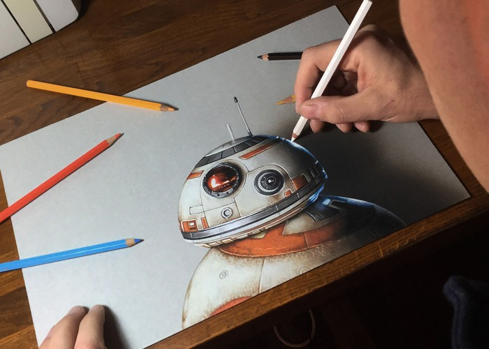 Drawn star wars 8 year And & Amazing Artwork BB