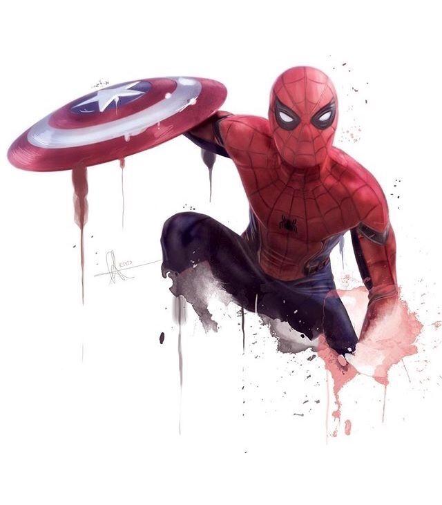 Drawn wars civil war Civil Marvel Spiderman of son