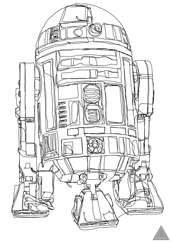 Drawn wars courage Continuous Wars Line Star Drawings