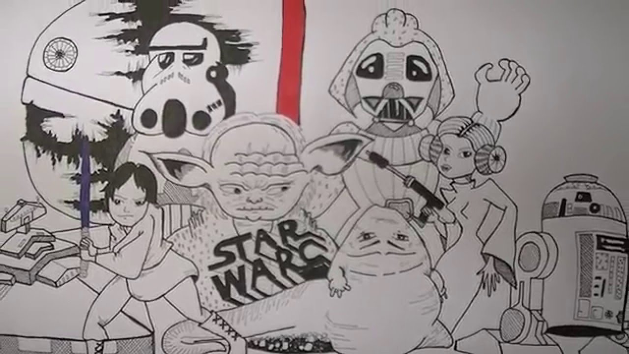 Drawn wars doodle Wars Doodle Drawings a a