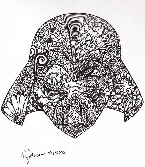 Drawn wars doodle Vader Inspired Art Pinterest on