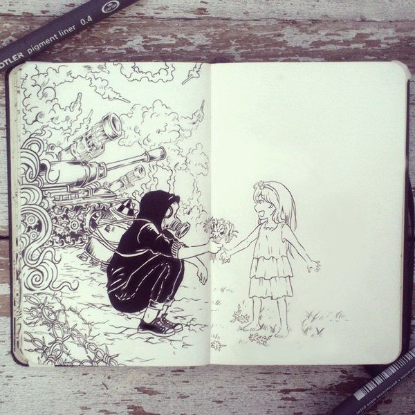 Drawn wars doodle War on Peace Pinterest 365