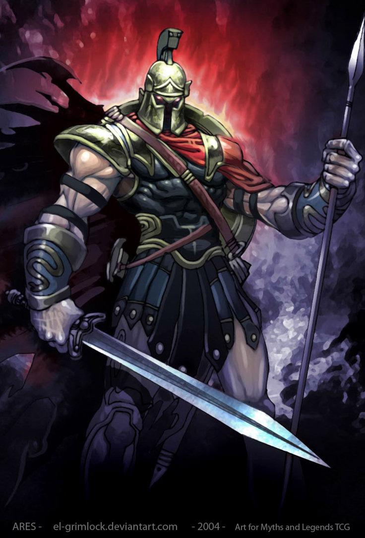 Drawn wars god war El (Mars) and by Ares