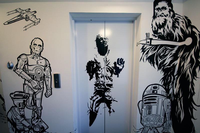 Drawn wars graffito Carbonite Marker 041 star han