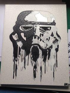 Drawn wars graffito Canvas hand art space Pop
