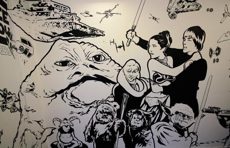 Drawn wars graffito Leia Marker 043 star characters