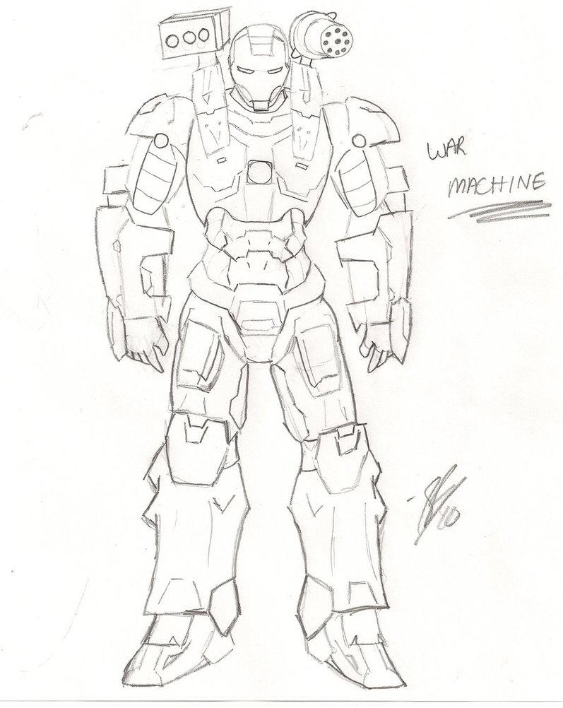 Drawn wars iron man 2 war machine Free pages for War coloring