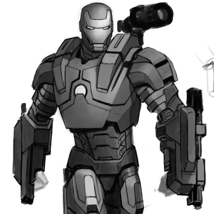 """Drawn wars iron man 2 war machine #warmachine work on 2! """"This"""