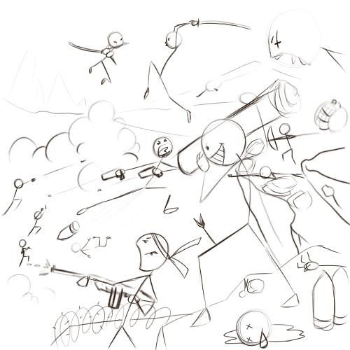 Drawn wars stickman Draw (with 6 Steps Stick