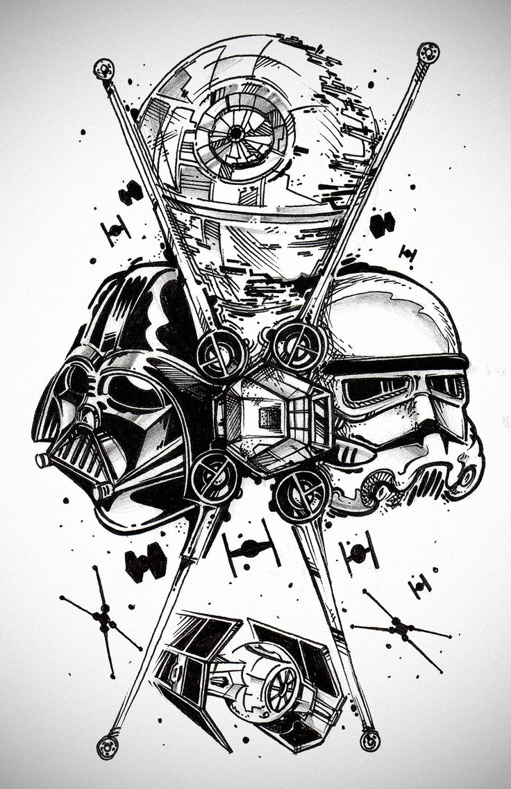 Drawn wars war art Star the  Star tattoo