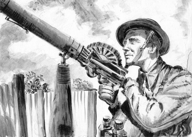 Drawn wars ww2 soldier V1n2_1 Gun Number 1 jpg