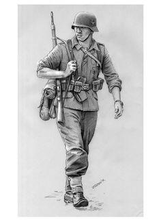 Drawn wars ww2 soldier German favorite of piece This