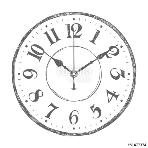 Drawn watch Drawn royalty vector Hand Hand